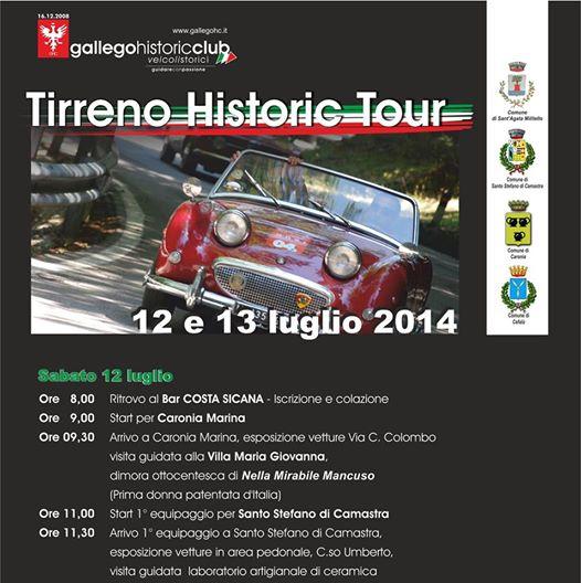 Tirreno Historic Tour 12 e 13 Luglio 2014