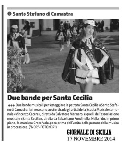 Due Bande per Santo Cecilia