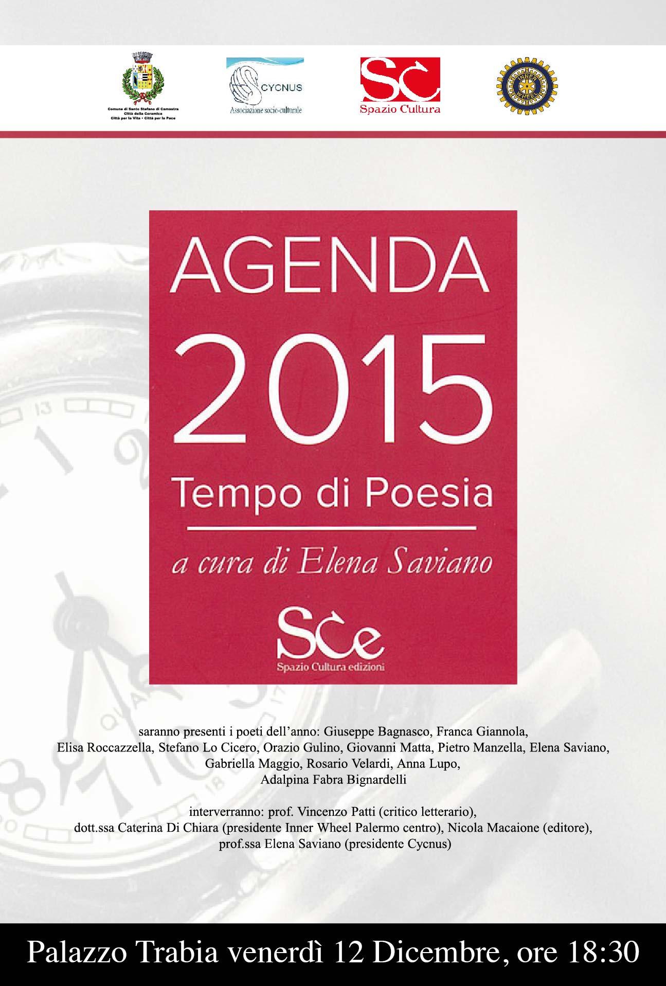 AGENDA 2015 TEMPO DI POESIA