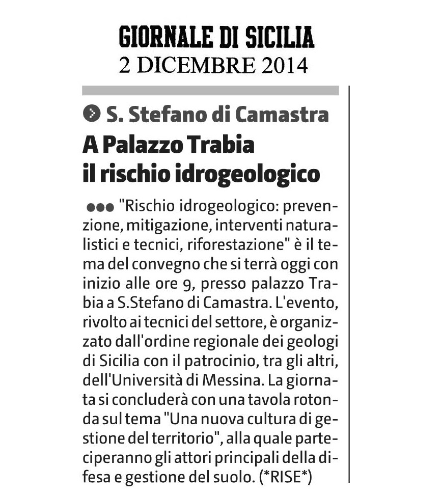 Santo Stefano di Camastra a Palazzo Trabia convegno sul rischio idrogeologico