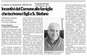 Incentivi  del Comune alle famiglie che iscrivono i figli a S.Stefano