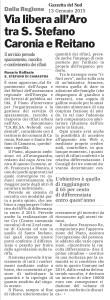Via libera all'Aro tra S. Stefano Caronia e Reitano