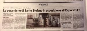Le ceramiche di Santo Stefano in esposizione all'Expo 2015