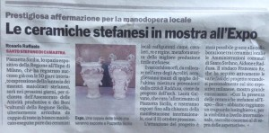 Le Ceramiche stefanesi in mostra all'Expo