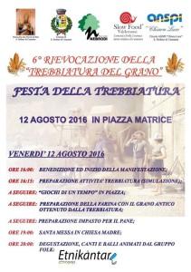 6° Rievocazione della Trebbiatura del grano - Festa della Trebbiatura 12 Agosto 2016 Piazza Matrice
