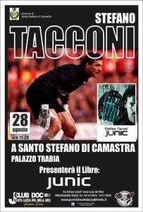 Stefano Tacconi presenterà il suo libro  Junic 28 Agosto 2016 ore 11.30